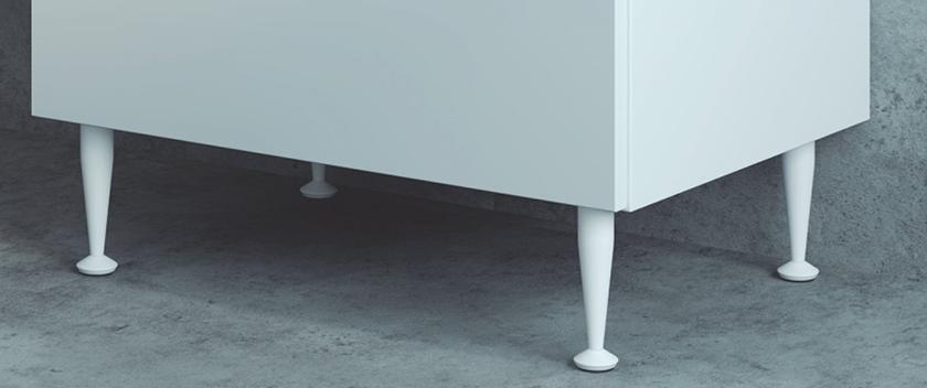 pé para armário branco